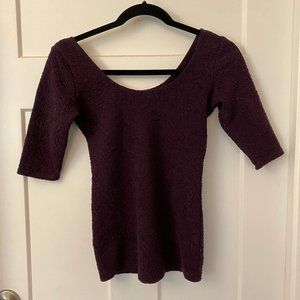 Garage Ballerina Top Tee Dark Purple in S
